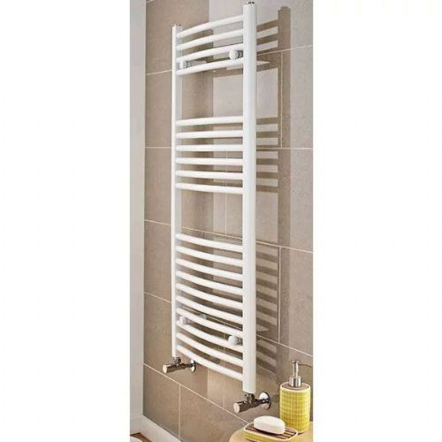 Kartell K-Rail Premium Curved Towel Rail - 400mm x 1000mm - White